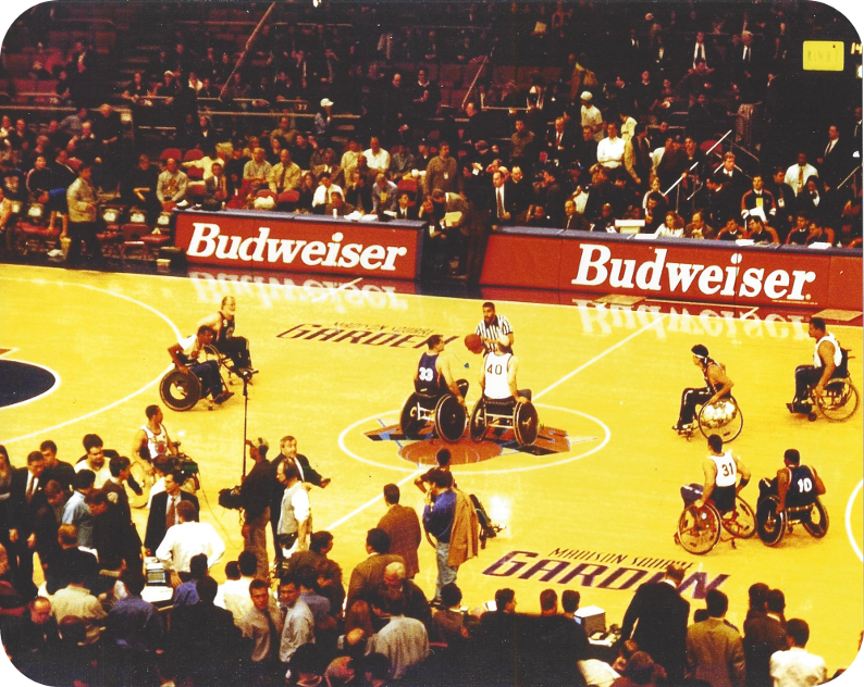 Madison Square Garden, half time exhibition game by Rollin' Knicks